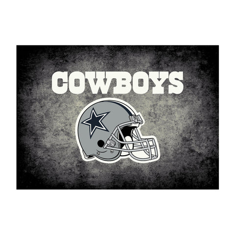 Dallas Cowboys 8X11 Distressed Rug