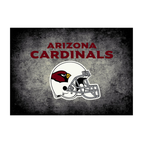 Arizona Cardinals 8X11 Distressed Rug