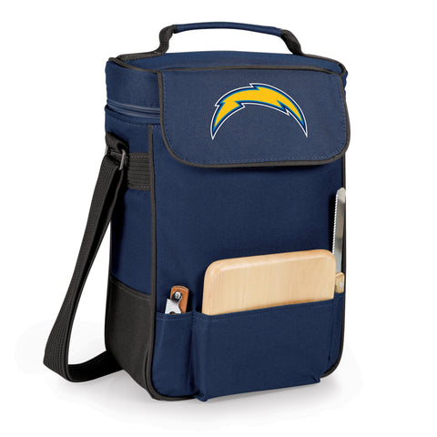 Los Angeles Chargers Duet Wine and Cheese Tote Printed