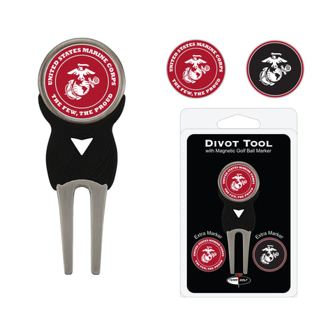 U.S. Marine Corps Divot Tool Pack With 3 Golf Ball Markers
