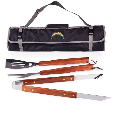 Los Angeles Chargers 3-Piece BBQ Tote and Tools Set