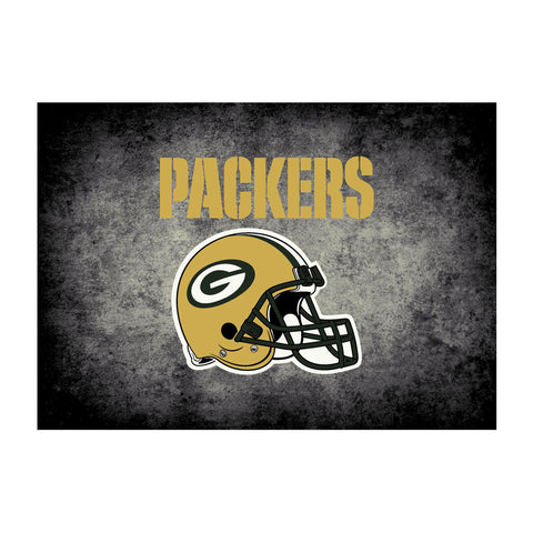 Green Bay Packers 4X6 Distressed Rug