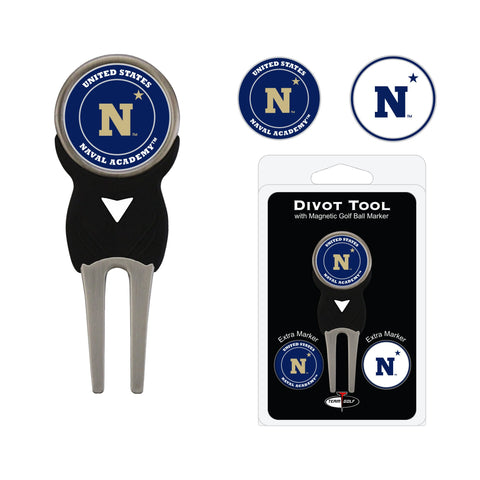 Navy Midshipman Divot Tool Pack With 3 Golf Ball Markers