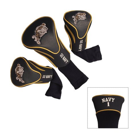 Navy Midshipman 3 Pack Contour Head Covers