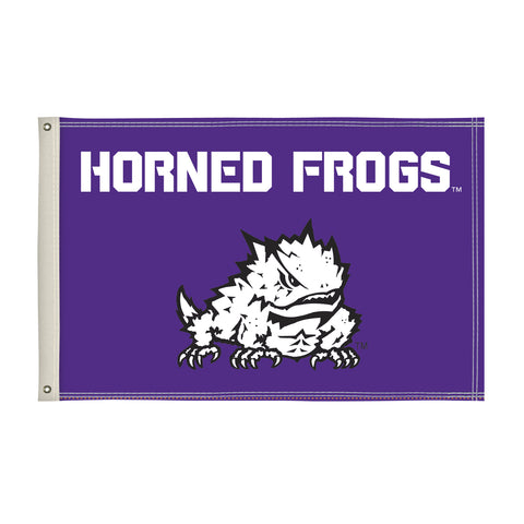 Tcu Horned Frogs 2' X 3' Flag 001