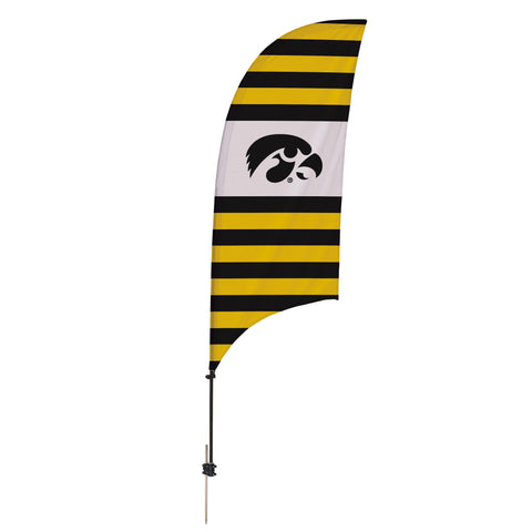 Iowa Hawkeyes 7.5 Ft. Razor Feather Flag With Spike Base 002