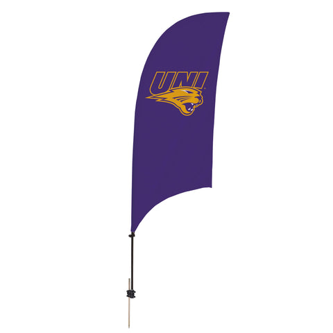 Northern Iowa Panthers 7.5 Ft. Razor Feather Flag With Spike Base 001