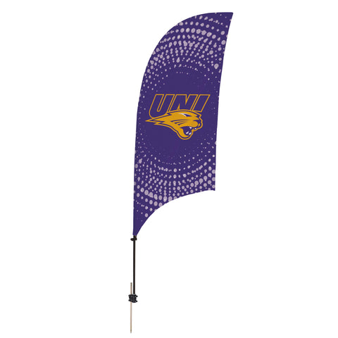 Northern Iowa Panthers 7.5 Ft. Razor Feather Flag With Spike Base 002