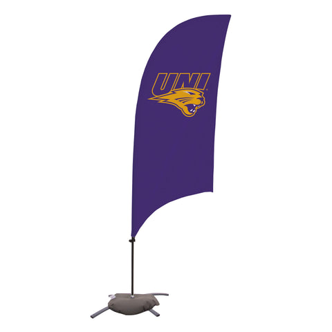 Northern Iowa Panthers 7.5 Ft. Razor Feather Flag With Cross Base 001
