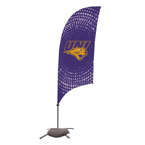 Northern Iowa Panthers 7.5 Ft. Razor Feather Flag With Cross Base 002