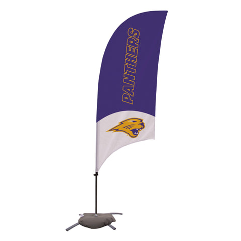 Northern Iowa Panthers 7.5 Ft. Razor Feather Flag With Cross Base 003