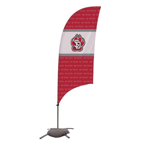 South Dakota Coyotes 7.5 Ft. Razor Feather Flag With Cross Base 002