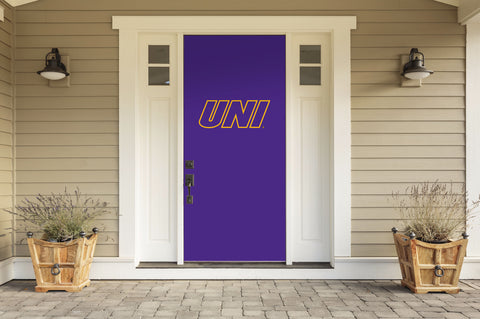 "Northern Iowa Panthers 36"" X 80"" Front Door Decor 001"
