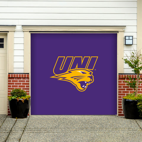 Northern Iowa Panthers 7' X 8' Single Garage Door Decor 001