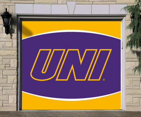 Northern Iowa Panthers 7' X 8' Single Garage Door Decor 002