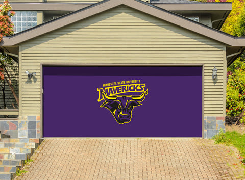 Minnesota State Mavericks 7' X 16' Double Garage Door Decor 001