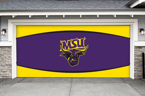 Minnesota State Mavericks 7' X 16' Double Garage Door Decor 002