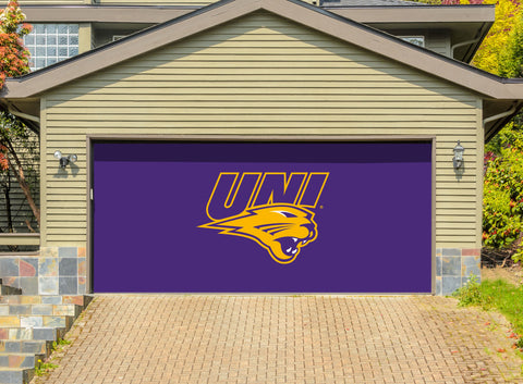Northern Iowa Panthers 7' X 16' Double Garage Door Decor 001