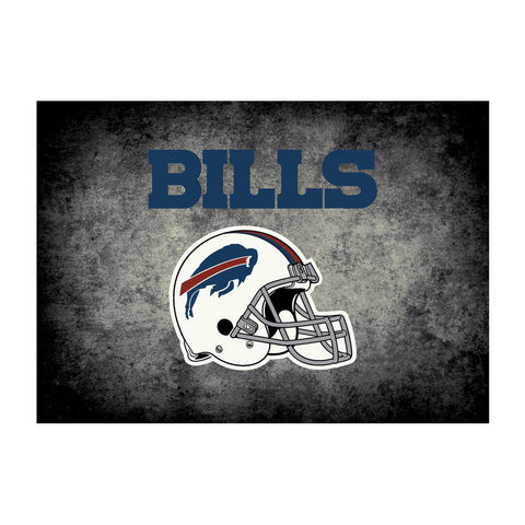Buffalo Bills 6X8 Distressed Rug