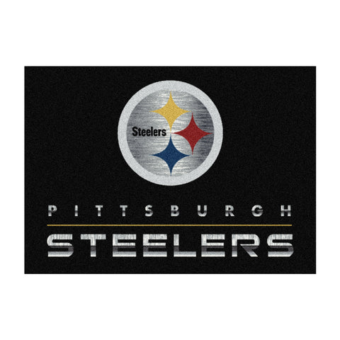 Pittsburgh Steelers 6X8 Chrome Rug