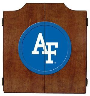 Air Force Dartboard Cabinet in Pecan Finish