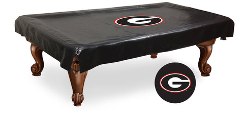 Georgia Bulldogs Script Billiard Table Cover