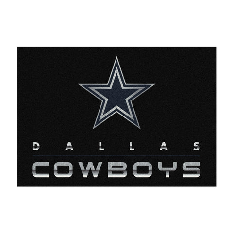 Dallas Cowboys 4X6 Chrome Rug