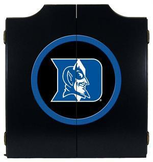 Duke Blue Devils Dartboard Cabinet in Black Finish