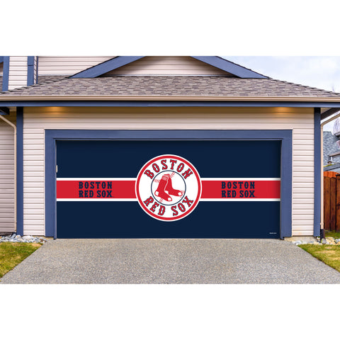Boston Red Sox Double Garage Door Cover
