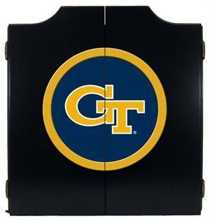 Georgia Tech Dartboard Cabinet in Black Finish