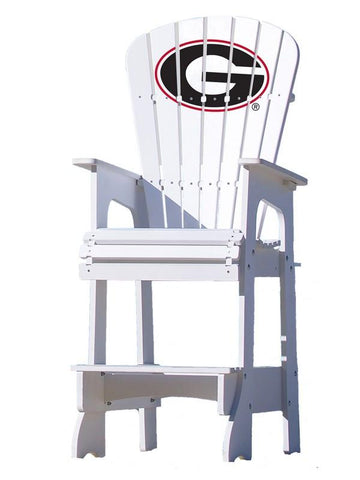 Georgia Bulldogs Logo Adirondack Bar Stool