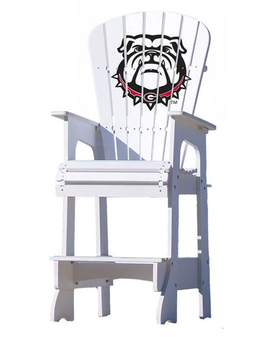 Georgia Bulldogs Adirondack Bar Stool