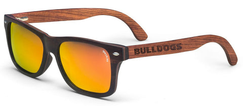 Georgia Bulldogs Cabo Wood Sunglasses