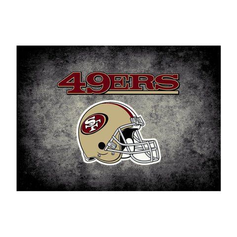 San Francisco 49Ers 8X11 Distressed Rug