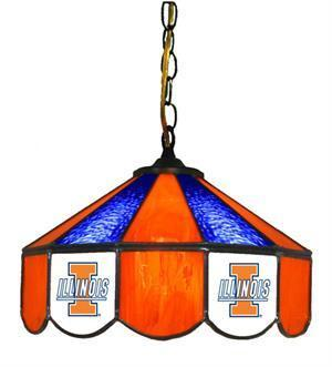 "Illinois Fighting Illini 14"" Swag Hanging Lamp"