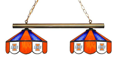 Illinois Fighting Illini 2 Shade Hanging Logo Light