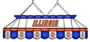 Illinois Fighting Illini Tiffany Pool Table Light
