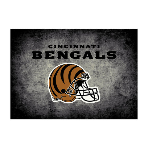 Cincinnati Bengals 4X6 Distressed Rug