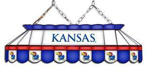 Kansas Jayhawks Tiffany Pool Table Light