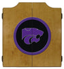Kansas State Wildcats Dartboard Cabinet in Oak Finish