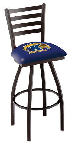 Kent State Golden Flashes Ladder Back Bar Stool 30""