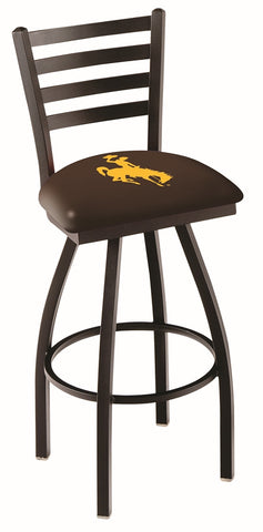 Wyoming Cowboys Ladder Back Bar Stool 25""
