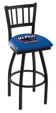 DePaul Blue Demons Jail Back Bar Stool 30""