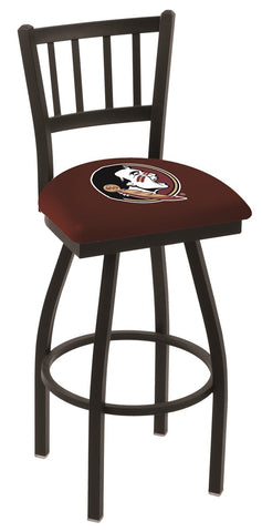 FSU Seminoles Head Jail Back Bar Stool 25""