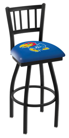 Kansas Jayhawks Jail Back Bar Stool 25""