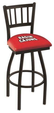 Louisiana Lafayette Ragin Cajuns Jail Back Bar Stool 30""