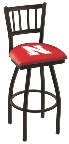 Nebraska Cornhuskers Jail Back Bar Stool 25""