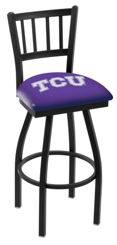 TCU Horned Frogs Jail Back Bar Stool 25""