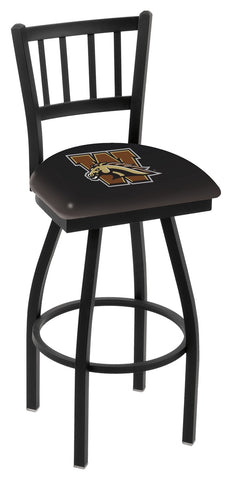 Western Michigan Broncos Jail Back Bar Stool 30""