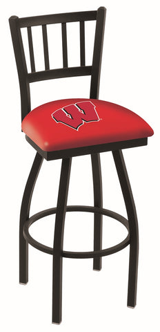Wisconsin Badgers W Jail Back Bar Stool 30""